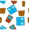Barrier door pattern cartoon style vector image vector image