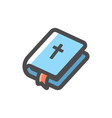 bible religion book icon cartoon vector image