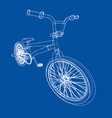 bicycle bmx vector image