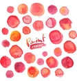 Big set of red watercolor stains vector image