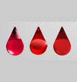 blood drops isolated on transparent background 3d vector image