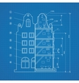 Blueprint facility vector image vector image