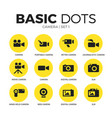 camera flat icons set vector image vector image