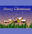 christmas background winter village vector image
