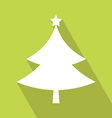 Christmas Tree Icon vector image