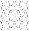 circular barbells horseshoe seamless vector image vector image