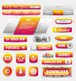 collection of web buttons elements set vector image vector image