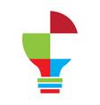 colored conceptual idea lightbulb vector image vector image