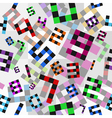colored numbers pattern vector image vector image