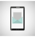 concept email message smartphone icon vector image vector image
