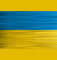 concept ukrainian flag yellow blue background vector image vector image