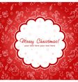 Decorative Christmas postcard on seamless vector image vector image