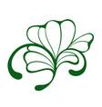 decorative clover shamrock vector image vector image