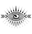 Eye tattoo element vector image vector image