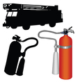 Fire truck-extinguisher vector image vector image