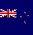 flag of new zealand national symbol of the vector image