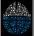 flare mesh 2d global helmet with flare spots vector image vector image