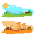 flat design concept with icons ecology vector image vector image