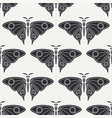 flat line seamless pattern wildlife fauna vector image
