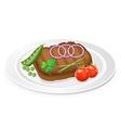 fried steak 03 vector image vector image