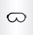 glasses line icon design element vector image