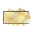 gold metall texture black frame golden color vector image vector image