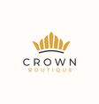 golden crown logo template vector image