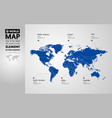 grand world map graphic element vector image