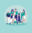 group of family members characters vector image