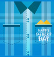 happy father day family holiday male checked vector image vector image