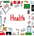 Health care poster with medical icons vector image vector image