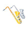 icon saxophone vector image vector image