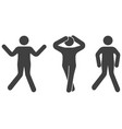 icons of dancing people on white vector image