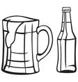 Light beer vector image vector image