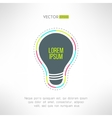 light bulb inspirational background in vector image
