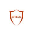 logo shield vector image vector image