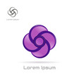 logo violet swirl element vector image