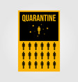 minimalist quarantine human isolation for viruses vector image