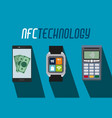 nfc technology concept vector image vector image