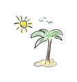 palm icon cartoon color vector image vector image