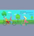 people in park poster vector image vector image