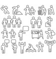 people thin line icons set vector image vector image