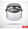 Police protect mask vector image vector image