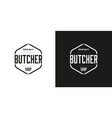 premium quality butcher shop logo vector image