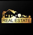 real estate golden unique symbol for business vector image vector image