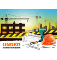 realistic construction background vector image