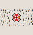retargeting remarketing crowd online advertising vector image