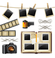 retro-styled photography set vector image vector image