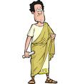 Roman senator vector image vector image