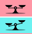 scales icon justice symbol weigh measurement flat vector image vector image